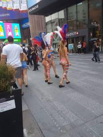 There was a Naked Cowboy somewhere...