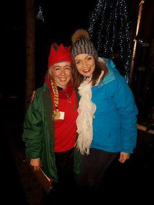 With Mollie Mistletoe...Chief Elf!