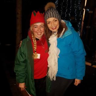 With Mollie Mistletoe...Chief Elf!